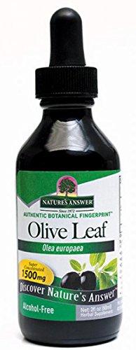 Nature's Answer | Olivenblatt-Extrakt | 1500 mg | 2 fl oz (60 ml) | glutenfrei
