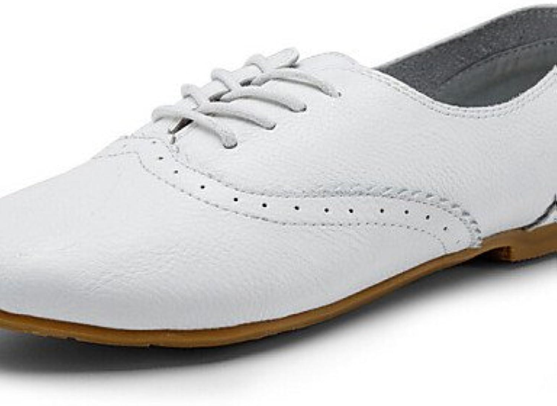 ZQ 2016 Zapatos de mujer - Tacón Plano - Botines / Punta Redonda / Punta Cerrada - Oxfords - Vestido / Casual...
