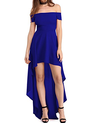 emmarcon elegante abito cerimonia da donna vestito lungo damigella scollo  barchetta festa party 696cfed54950