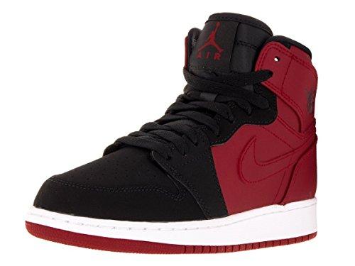 Nike Air Jordan 1 Retro Jovens Calçado De Alta Bg Basquete Vermelho / Preto (ginástica Preto E Branco)
