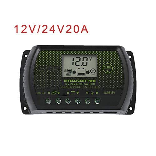 Tree-on-Life LCD Solar Panel Batterieregler Laderegler Dual USB 20A 12V / 24V -