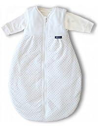 Alvi Kombi-Schlafsack 90 cm Ganzjahres Baby-Schlafsack 2-teilig - Langarm-Innensack & gefütterter Außensack, Temperaturen von 15 bis 30°C, Birnenform ohne störende Rücken-Nähte Größe 90 cm