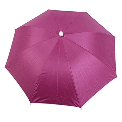 Schirmhut Angeln Reise Elastik Kopfband Fuchsie Polyester Regenschirm Hut
