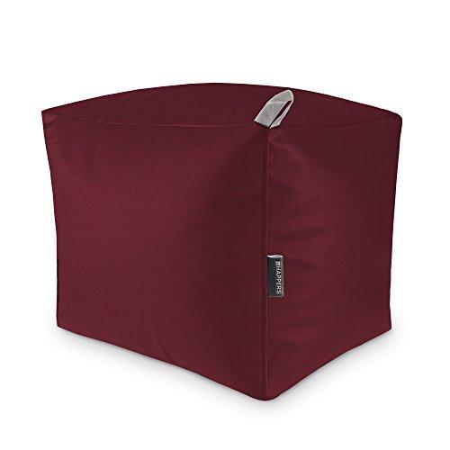 HAPPERS Sitzsack, Kunstleder 40x50x45 cm Granatrot