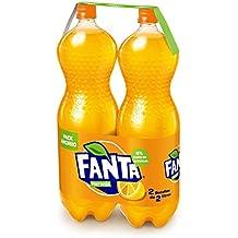 Fanta de Naranja -  Pack Ahorro, 2 botellas x 2 L (Total 4 L)