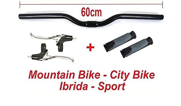 Coppia Manopole per bicicletta Mountain Bike City Bike Ultra Grip Nero