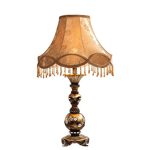 Lamp LU de Table Chambre de Chevet American Retro Study Salon de Bureau de Luxe (Taille : S)