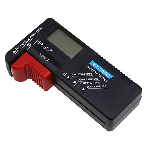 ENET Digitaler Batterietester, Mini-Zelle, wiederaufladbar, Muti-Akku, Voltprüfer für Haushalt AA CD AAA 9 V
