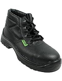 Siili Safety - Calzado de protección de Piel para hombre negro negro, color negro, talla 46 EU
