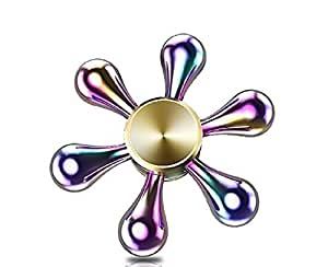 Premsons Fidget Spinner Toy For Kids - Metallic Rainbow