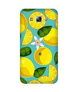 Lemon Leaves Printed Back Cover Case For Samsung Galaxy E5
