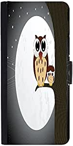 Snoogg Owl Sit On Branch With Baby Owl Designer Protective Flip Case Cover Fo...