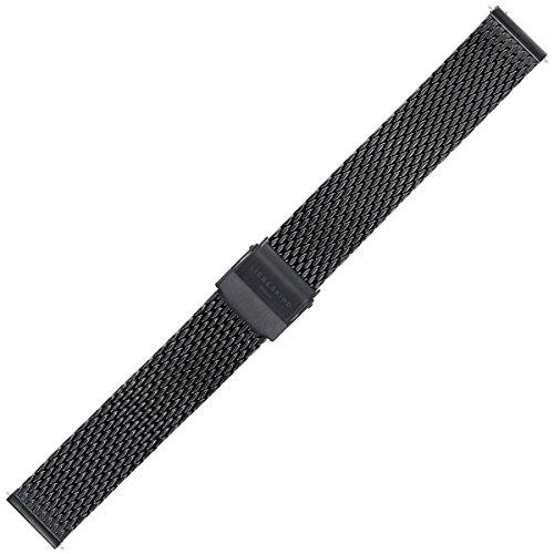 Liebeskind Uhrenarmband 16mm Edelstahl Schwarz - Uhrband B_LT-0082-MQ