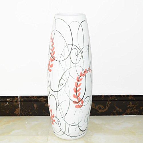 Vase Meters de décoration en céramique Simple et créative, Grand, Salon, Plancher, Fleur sèche, Arrangement Floral, Ornements de décoration de Maison