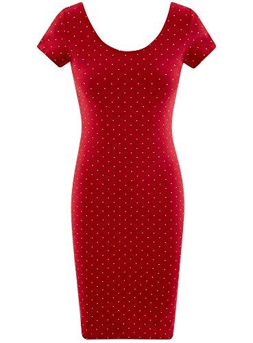 oodji Collection Damen Enges Kleid mit Tiefem Ausschnitt am Rücken ...
