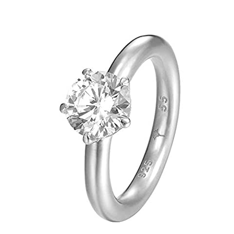 Joop! Damen-Ring 925 Silber Zirkonia weiß Gr. 59 (18.8)-JPRG90735A590