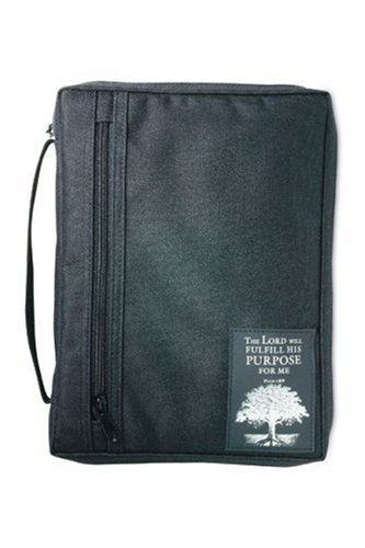 The Purpose Driven Life With Patch Book and Bible Cover: Black, Extra Large