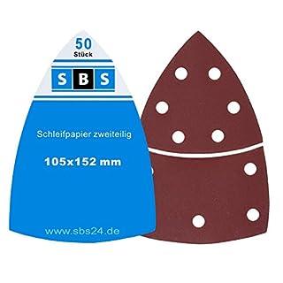 SBS Klett-Schleifblätter | 105 x 152mm | Korn 120 | 50 Stück | für Multischleifer Prio