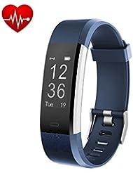 ID2 Plus Smart pulseras pulsera de fitness Tracker frecuencia cardiaca Bluetooth 4.0 Ejercicio Tracker, Monitor