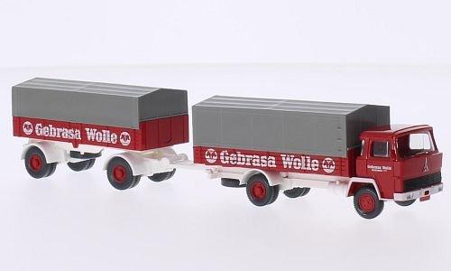 Magirus 100 D 7 Pritschenlastzug, Gebrasa Wolle, 0, Modellauto, Fertigmodell, Wiking / PMS 1:87