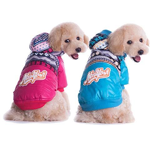 VCB Qualitäts-Haustier-Flauschige Kleidung Kleidung Weihnachten Winter warme MantelRosen - Rose rot (S)