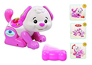 VTech - Perrito patitas, Juguete para bebé, Color Rosa (3480-146957)