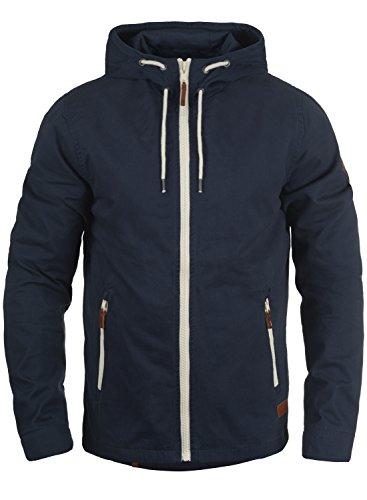 Blend Bobby Herren Übergangsjacke Herrenjacke Jacke gefüttert mit Kapuze, Größe:XXL, Farbe:Navy (70230)