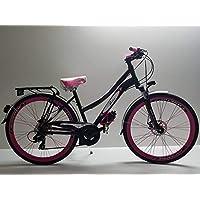 Maya Professional Tools Bicicleta de Mujer Bicicleta City Bike Mujer de Aluminio Personalizable Color Negro y