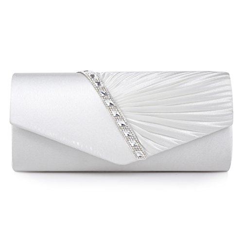 sstein Damen Abendtasche Handtasche,Weiß ()