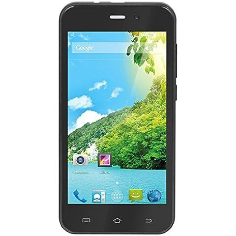 Trevi Phablet 4,5 Q2 4GB Nero-Smartphone Dual SIM Android, GSM/EDGE/HSPA/UMTS, WCDMA, Micro-USB Stick)