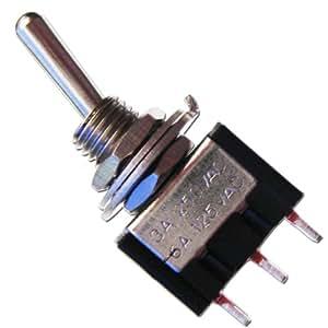 10x Miniatur-Kipp-Schalter MTS-102 schwarz 1-polig