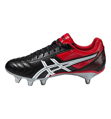 Asics Lethal Tackle, Scarpe da Rugby Uomo Multicolore (Black/Racing Red/White)