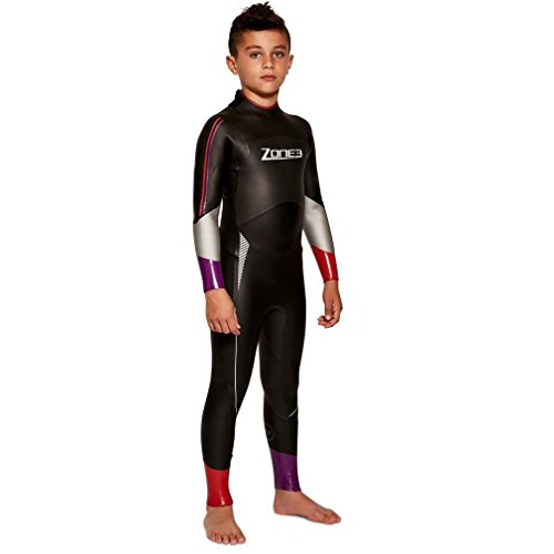 Zone 3 Adventure Junior Triathlon Neoprenanzug, Schwarz, Kinder M
