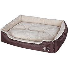 Songmics Cómodo Casa para mascotas, Cama para perros Perrera Gato Del Perro De Perrito Sofa House Bed L 90 x 70 x 17 cm PGW04Z