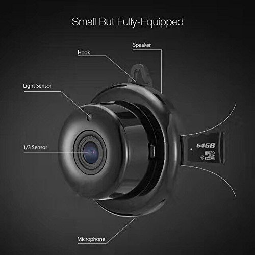 OWSOO-Mini-Cmara-de-Vigilancia-Inteligente-Control-Remoto-Wifi-Monitoreo-Inteligente-Inalmbrico-Vision-Nocturna-1080P