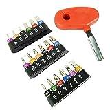 Fenteer Drehmomentschlüssel 1/4, einfach zu instalieren, ideal für Fahrad Auto Motorad Reparatur - rot