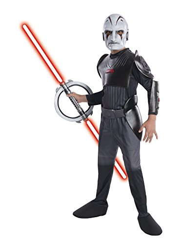 Rebels Kostüm Star Wars Inquisitor Kind - Star Wars Rebels Inquisitor Kinderkostüm Lizenzware grau weiss S