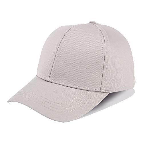 frgtrhb Glitzer Ponytail Baseball Cap Damen Snapback Dad Hat Mesh Trucker Caps Unordnung Dut Sommer Hut Frauen Verstellbare Hip Hop Hüte Stoff Grau ohne Logo -