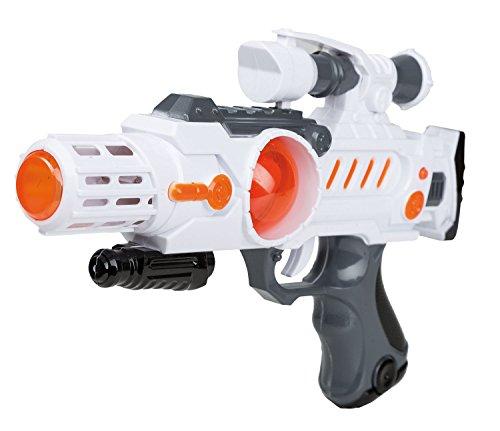 Idena 40412 - Space Pistole mit Licht und Sound, circa 28 cm (Science Fiction Kostüm Ideen)