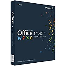 Office for Mac Home and Business 2011, Licence Card, 1 User [import anglais]