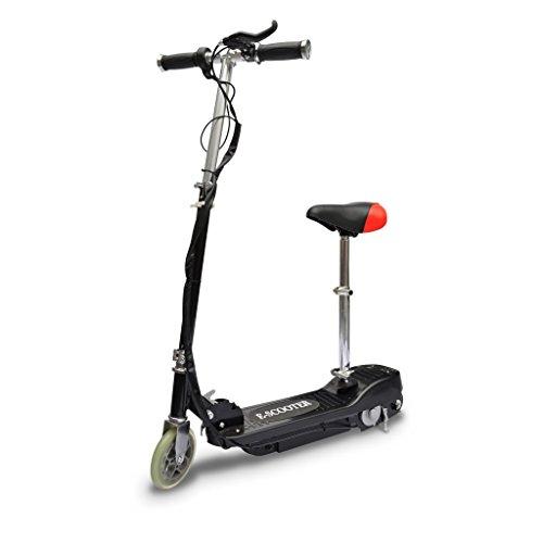 Festnight Elektro Scooter E-Scooter Cityroller mit Sitz Elektroroller Max. Tragkraft 50 kg Schwarz