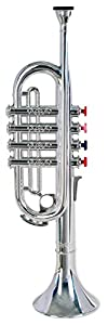 Bontempi-32 Trompeta con 4 Notas coloreadas, Multicolor, 37 cm (Spanish Business Option Tradding 32 3831)