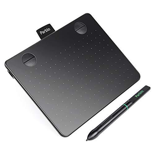 drawing tablet Parblo Drawing Tablet A640 6x4 Pollici Grafica Digitale Disegna Tablet con 8192 Livelli Pressione Penna passiva Stilo Senza Batteria e 4 Tasti di Scelta Rapida (Parblo Drawing Tablet A640)