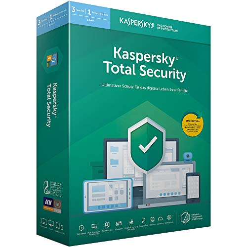 Kaspersky Total Security 2019 Standard | 3 Geräte | 1 Jahr | Windows/Mac/Android | Box | Download