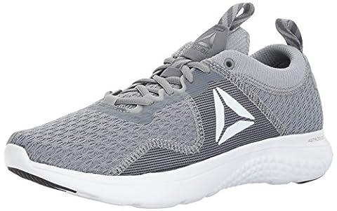 Reebok Men's Astroride Fire Mtm Running Shoe, Flint Grey/Alloy/White/Silver Metallic/Pewter/Black/Baseball Grey, 8 M