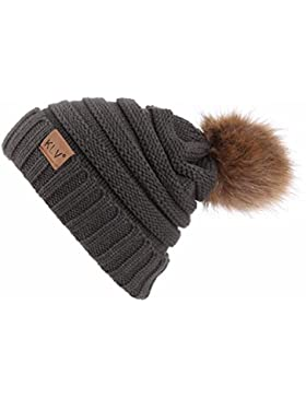 Hombres Mujeres Baggy Warm Crochet Invierno lana punto esquí beanie cráneo Slouchy gorras sombrero