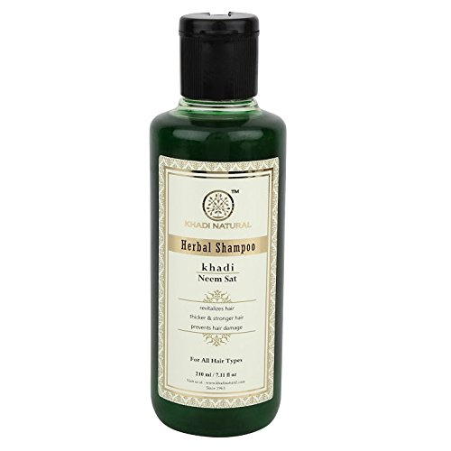 Khadi Herbal Neem Sat Shampoo, 210ml
