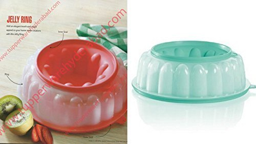 Jel-ring (TUPPERWARE 6Cup jel-ring Jello Mold Ice Ring in mint grün/rot)