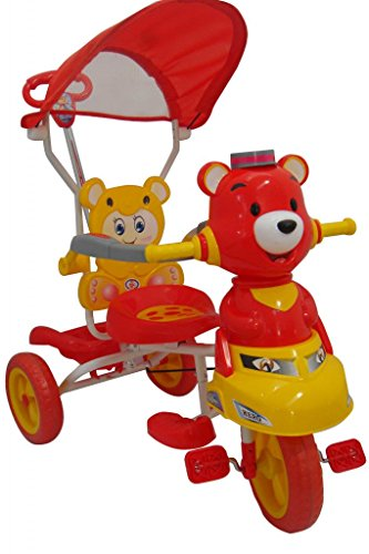 HLX-NMC KIDS TRICYCLE SMART BEAR RED  available at amazon for Rs.1800