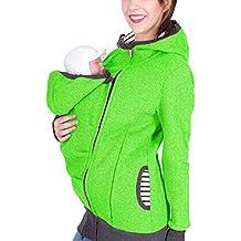 AIYUE 3 in 1 Tragejacke Umstandsjacke Mama K/ängurujacke aus Fleece Tragepullove f/ür Babytrage